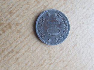 Notgeldas 10 pfennig , Coblenz , 1918
