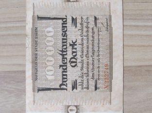 100000 mark , Essen Vokietija , 1923 retokas
