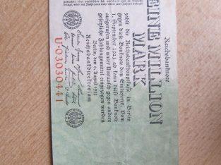 1 milijonas mark , Vokietija , 1923