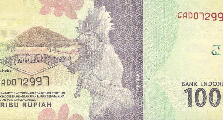 1000 Indonezijos rupijų banknotas. UNC