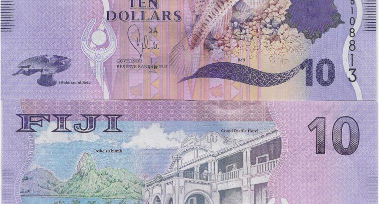 Fidžis 10 Doleriu banknotas 2013 metai UNC