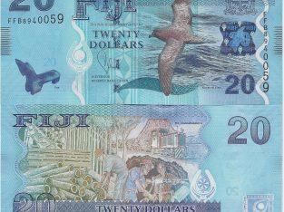 Fidžis 20 Dolars banknotas 2013 metai UNC