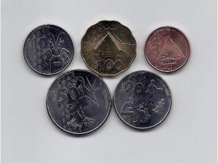 Vanuatu monetu rinkinys 2015 metai UNC