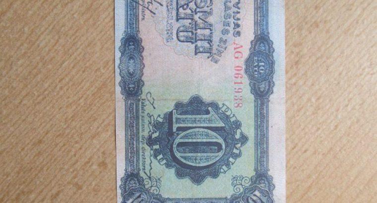 10 litu , Latvija , 1934