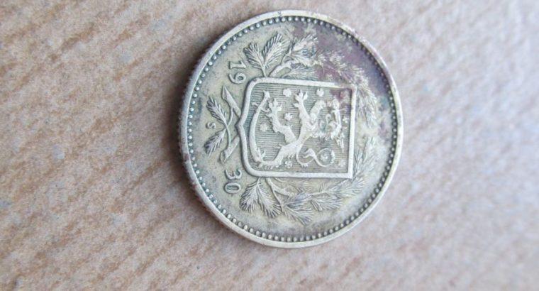 5 markkaa , Suomija , 1930