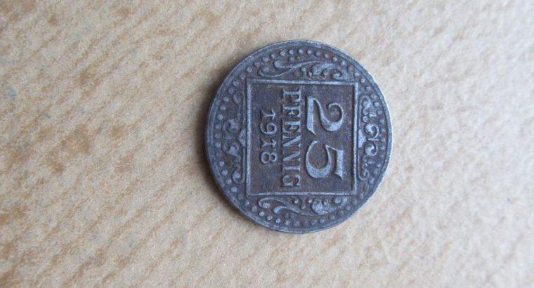 Notgeldas 25 pfennig , Munster , 1918