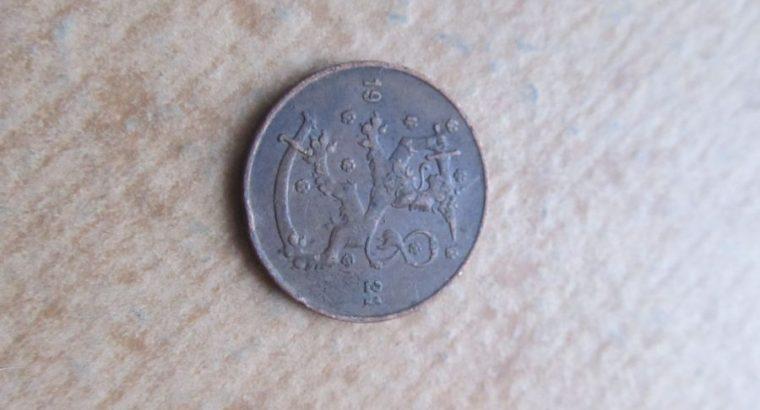 5 pennia , Suomija , 1921 .