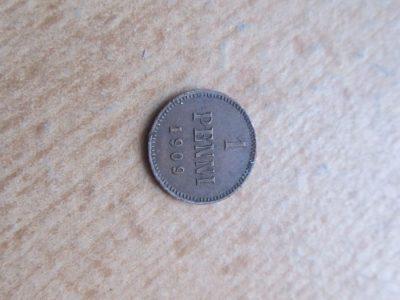 1 penni , Rusija Suomija , 1909
