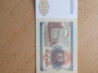 100 rubliu , Tadžikistanas , 1994 unc