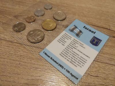 Izraelio monetu rinkinys su aprasymu UNC