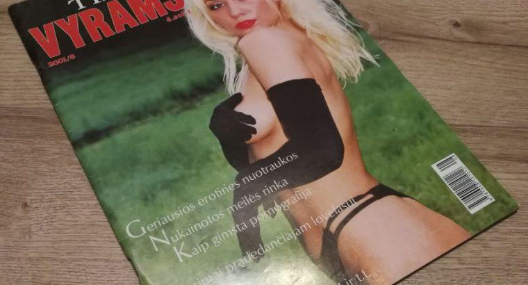 Tik Vyrams zurnalo 2001 8 numeris su plakatu