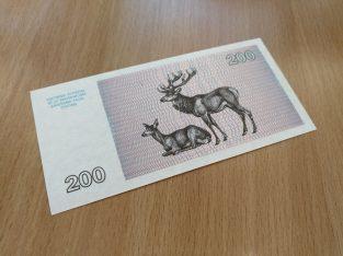 200 lietuvisku talonu banknotas UNC 1993