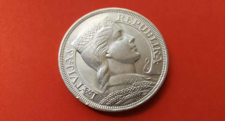 1929 m Penkiu latu moneta