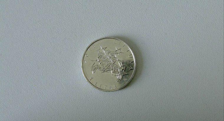 Proginė vieno lito moneta Lietuvos pirmininkavimas Europos Sajungos tarybai