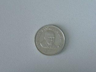 Proginė vieno lito moneta Lietuvos bankui ir Litui 75 metai 1997 metai Jurgutis