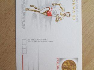 Atvirlaiškis Igrzyska XXII olimpiady Moskwa 80