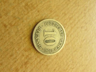 10 pfennig , Vokietija , 1896