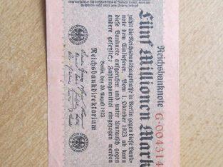 5 milijonai markiu , Vokietija Berlynas , 1923