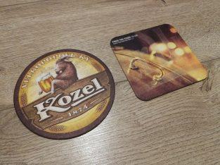 Du nenaudoti Cekisko alaus padekliukai