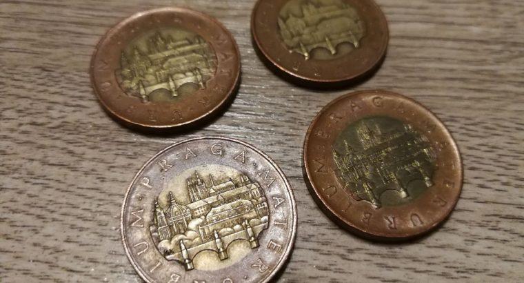 Keturiu skirtingu metu Cekisku kronu kolekcija 50 kronu nominalas