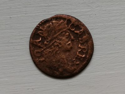 Kazimiero šilingas LDK moneta 1664 metu