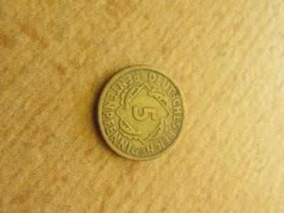 5 rentenpfennig , Vokietija , 1924 E