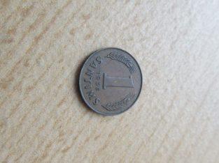1 santims , Latvija , 1938