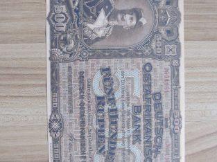 500 rupiju , Vokietijos Rytų Afrika , 1912