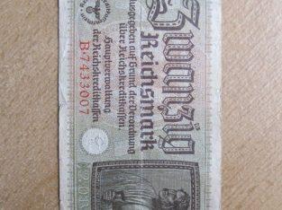 20 reichsmark , Vokietija , 1940