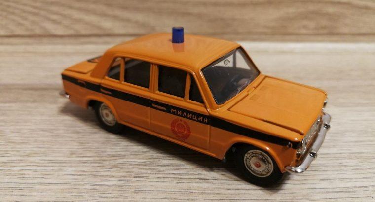 Lada 2101 modeliukas Milicia. Pagamintas SSSR