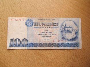 100 mark , Vokietija VDR , 1975