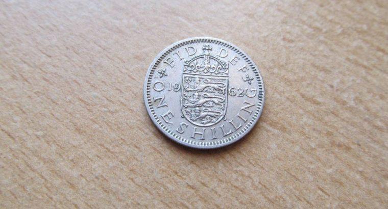 1 shilling , Anglija, 1962