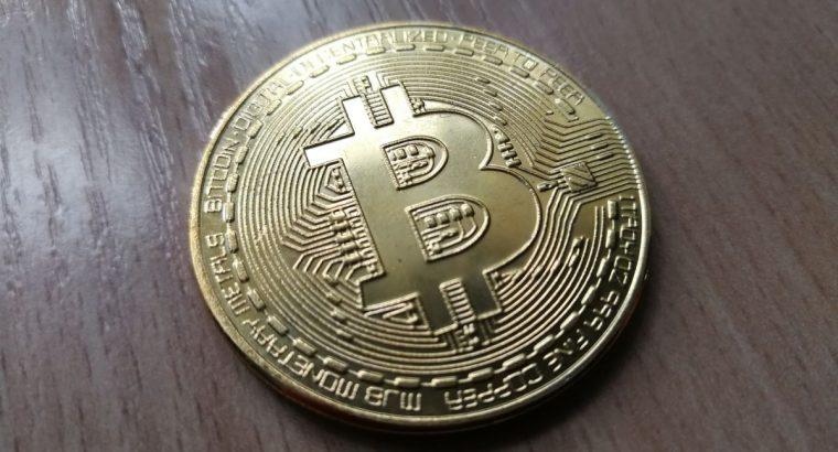 Simboline Bitcoin moneta