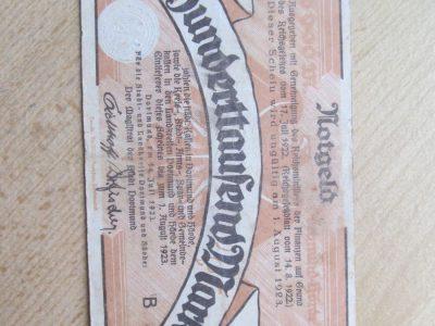 100 000 mark , Dortmundas Vokietija , 1923