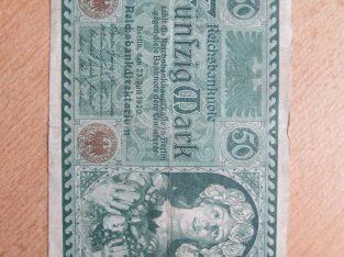 50 mark , Vokietija , 1920 retesnis