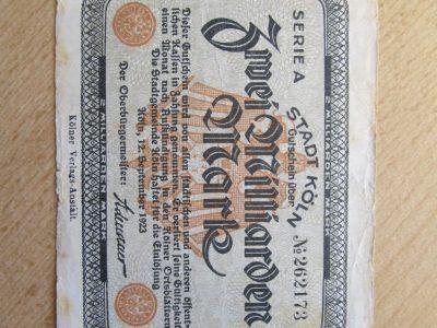 2 000 000 000 mark , Kelnas Vokietija , 1923