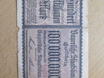 100 000 000 mark , Vokietija Miunhenas , 1923 reta