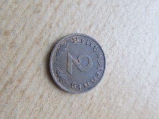 2 reichspfennig , Vokietija , 1938 F