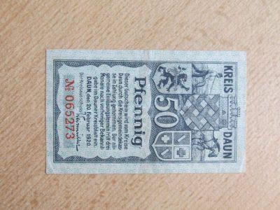 Notgeldas 50 pfennig , Daun Vokietija , 1920