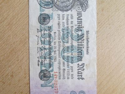 20 milijonu markiu , Berlynas Vokietija , 1923