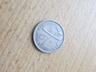 6 pence , Pietų Rodezija , 1947