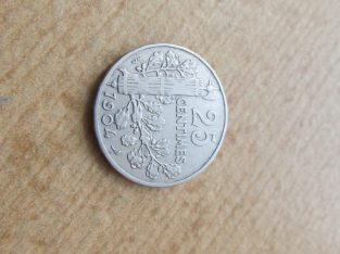 25 centimes , Prancūzija , 1904