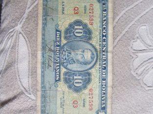 10 bolivianos , Bolivija , 1928