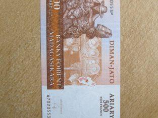 500 ariary , Madagaskaras , 2004 unc