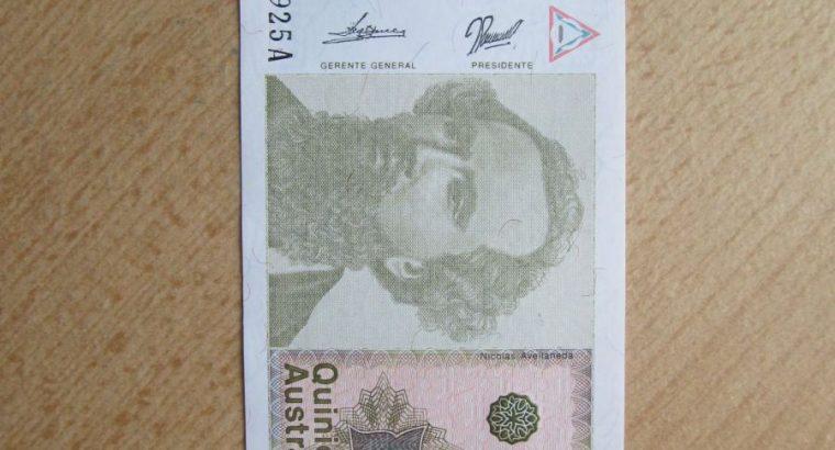 500 australes , Argentina , 1990 unc
