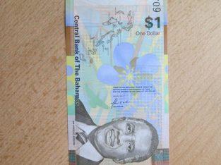 1 doleris , Bahamai , 2017 unc