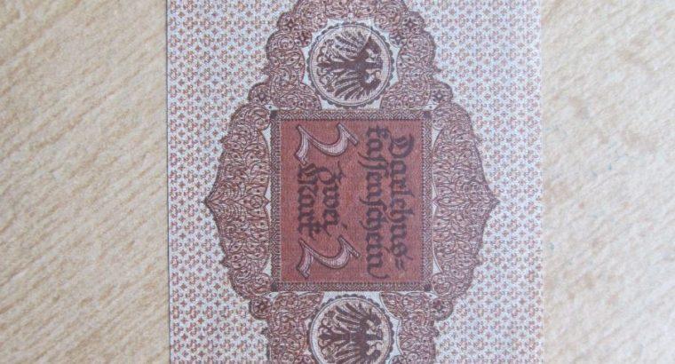2 mark , Vokietija , 1920