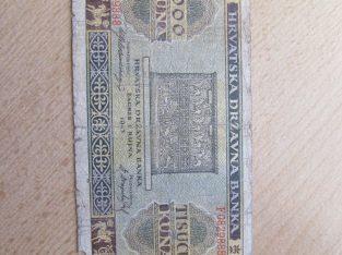1000 kuna , Kroatija , 1943