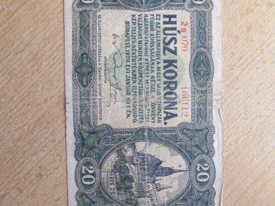 20 korona , Vengrija , 1920