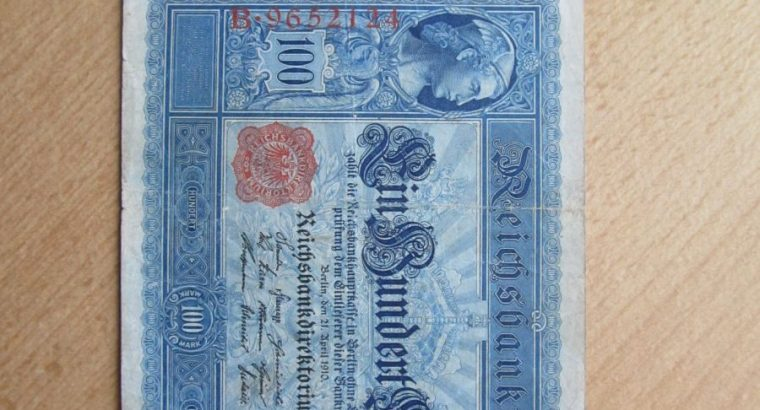 100 mark , Vokietija , 1910